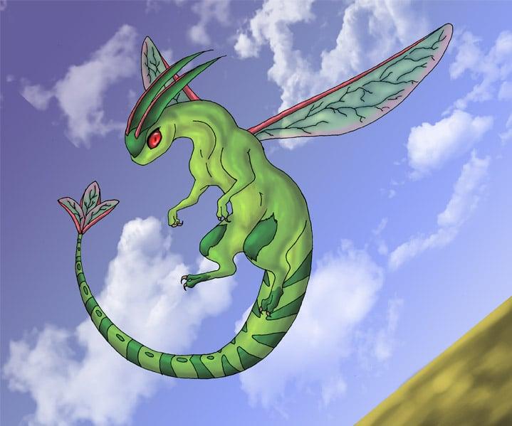 Flygon_in_Flight_by_Flowerlark